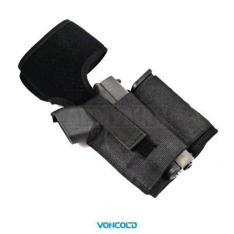 VONCOLD L-Down 847, taktické pouzdro na pistoli lýtkové, armádní černá