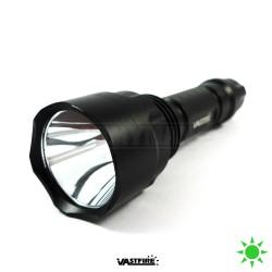 VASTFIRE XRE-Q5 LED taktická svítilna / baterka, zelené světlo