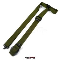 NICOARMS SSQD-Strap QD10 popruh na zbraň, armádní zelená