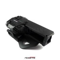 NICOARMS Force-UG 350, taktické pouzdro opaskové Glock, armádní černá