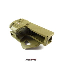 NICOARMS Force-UG 351, taktické pouzdro opaskové Glock, pouštní