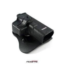 NICOARMS MID-GH 552, taktické pouzdro opaskové Glock, armádní černá