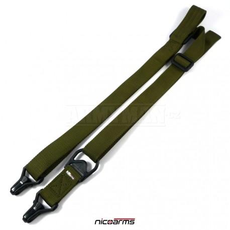 NICOARMS SSCQD-Strap QD101 řemen na zbraň, armádní zelená