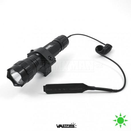 VASTFIRE 501B LED taktická svítilna / baterka s dálkovým spínačem