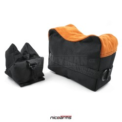 NICOARMS Rest Bag Black, shooting bag, black + orange