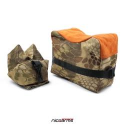 NICOARMS Rest Bag Dragon, střelecký vak, kamufláž + oranžová