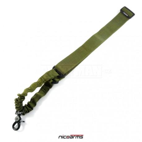 NICOARMS B-Strap SQD3 řemen na zbraň, armádní zelená