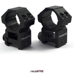 NICOARMS LM3023, 25,4mm Montážní kroužky
