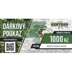 Dárkový poukaz Armyman.cz na nákup zboží v hodnotě 1000 Kč