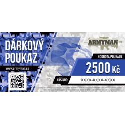 Dárkový poukaz Armyman.cz na nákup zboží v hodnotě 2500 Kč