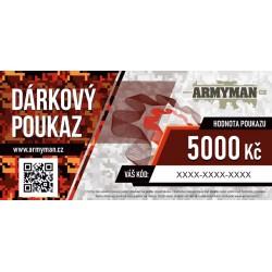 Dárkový poukaz Armyman.cz na nákup zboží v hodnotě 5000 Kč