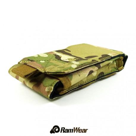 Ramwear Pocket-Bag-410, transport pouch for documents, army python black