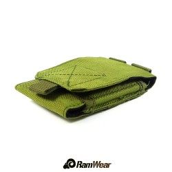 Ramwear CELL-Bag-61, transport pocket for phone, army green