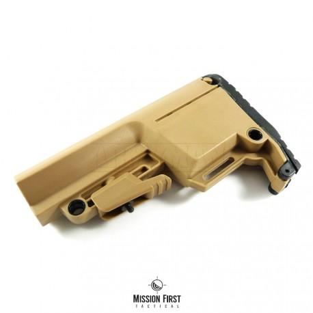 Mission First Tactical BATTLELINK Utility Low Profile Commercial Stock, pažba armádní pouštní