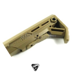 Mission First Tactical BATTLELINK Utility Low Profile Commercial Stock, army desert buttstock