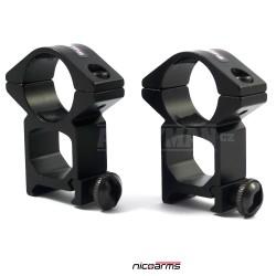 NICOARMS LM3025, 25,4mm Montážní kroužky