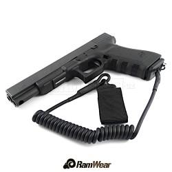 RAMWEAR PSST-Strap QD460 bezpečnostní šňůra, armádní černá