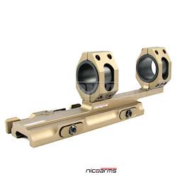 NICOARMS CRQD-550 Rychloupínací jednodílná montáž, zlatá