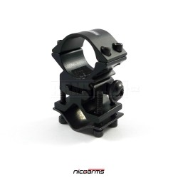 NICOARMS LM3030, 25.4mm Montážní kroužek + adaptér na Hlaveň