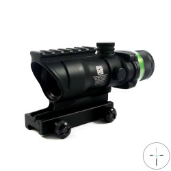 Trijicon 4x32mm ACOG rifle, green cross