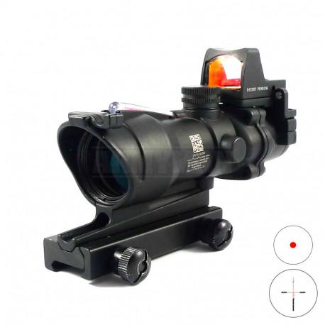 Trijicon ACOG TA31-ECOS-G 4x32 red cross puškohled - Replika