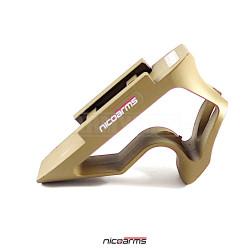 NICOARMS FORMINI-R5011, taktická rukojeť , pouštní, slitina hliníku