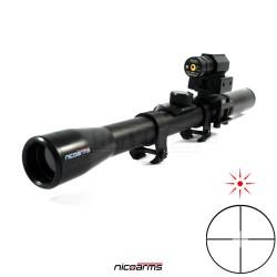 NICOARMS DT-2000DUP 4x20 puškohled Duplex Laser