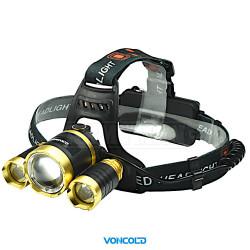 VONCOLD HEADFORCE-2002 XM-L T6 + 2x X-PE LED taktická čelová svítilna