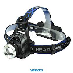 VONCOLD HEADSINGLE-42 T6 LED  taktická čelová svítilna + 2 x baterie 18650  (3,7V),
