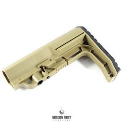 Mission First Tactical BATTLELINK Minimalist Commercial Stock , pažba armádní pouštní