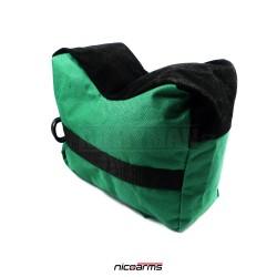 NICOARMS Rest Bag Green2, střelecký vak, armádní zelená + černá