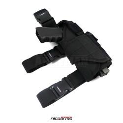 NICOARMS Force-Down 545,  taktické pouzdro na pistoli stehení, armádní černá